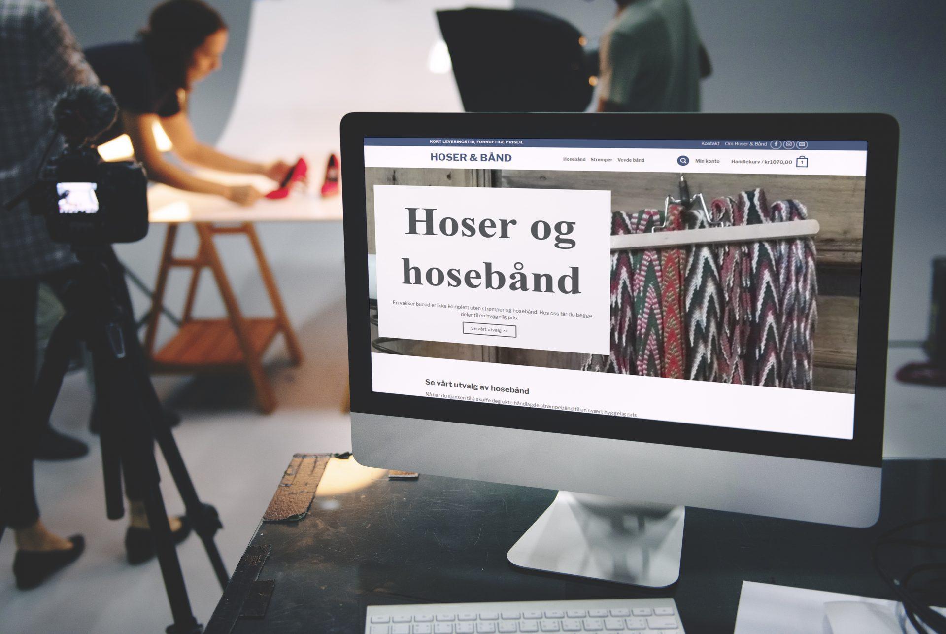 Nettbutikk for Hoser & Bånd